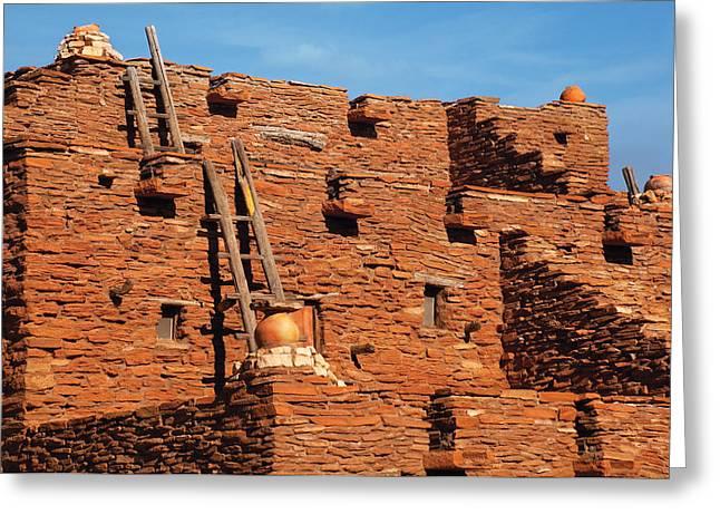 City - Arizona - Pueblo Greeting Card by Mike Savad