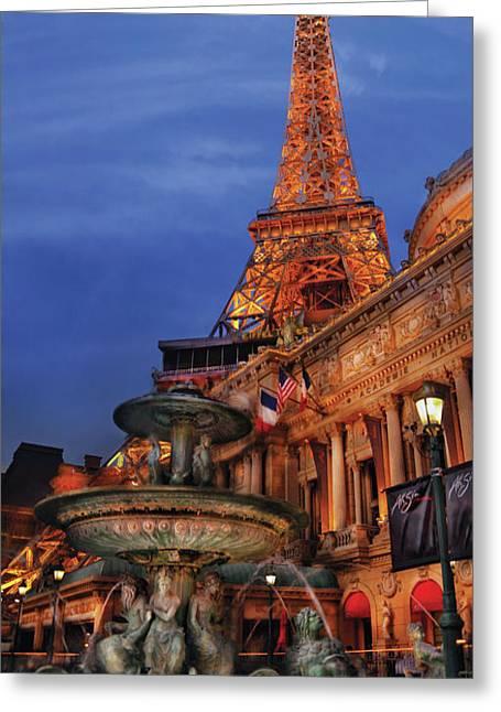 City - Vegas - Paris - Academie Nationale - Panorama Greeting Card by Mike Savad