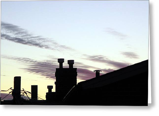 Urbam Greeting Cards - City After Sunset Greeting Card by Lyle Crump