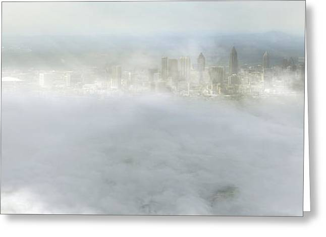 Jacksonville Greeting Cards - City Amongst the Clouds - Jacksonville - Florida - Landscape Greeting Card by Jason Politte