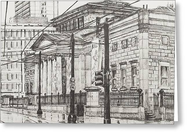 Street Scenes Greeting Cards - City Art Gallery Greeting Card by Vincent Alexander Booth