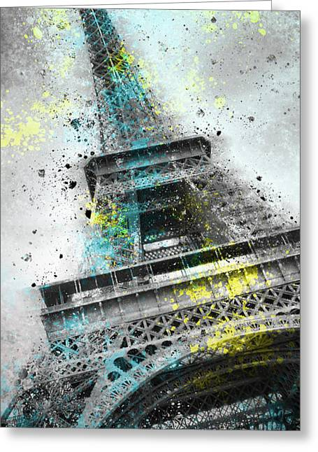 City-art Paris Eiffel Tower IIi Greeting Card by Melanie Viola