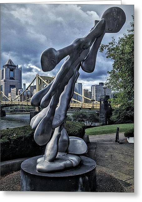 Clemente Greeting Cards - City Art Greeting Card by Shelley Smith