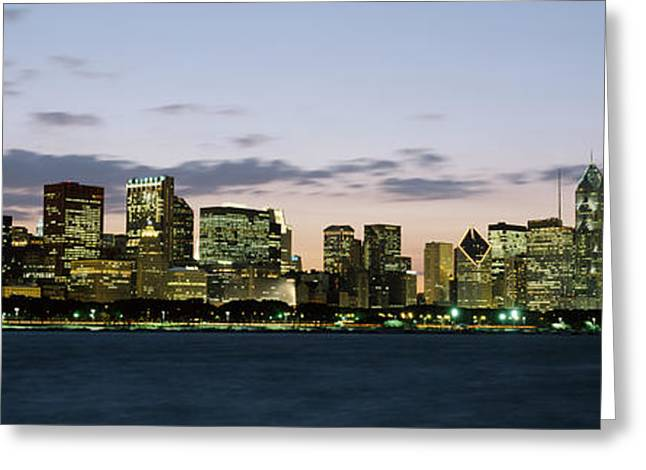 Scenic Drive Greeting Cards - City At The Waterfront, Chicago Greeting Card by Panoramic Images