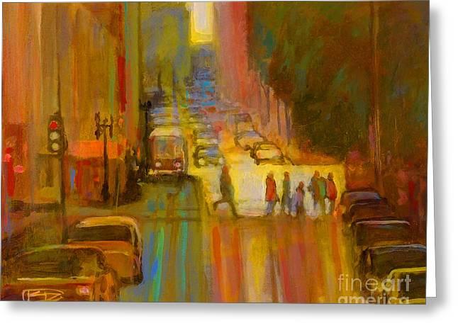Best Sellers -  - Crosswalk Greeting Cards - City Crosswalk Greeting Card by Kip Decker