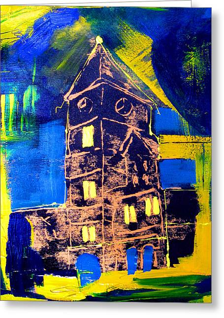 Hand Pulled Print Greeting Cards - City Hall 1 Greeting Card by Beverly  Koski