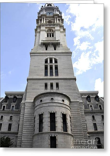 Philadelphia City Hall Greeting Cards - City Hall Greeting Card by Andrew Dinh