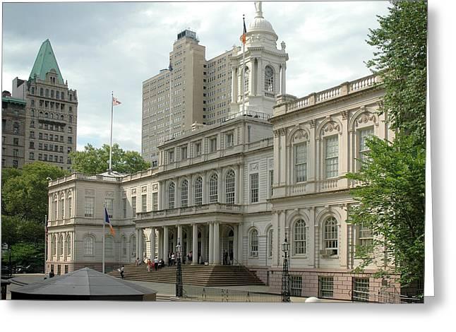 City Hall Greeting Cards - City Hall Manhattan Greeting Card by Frank Mari