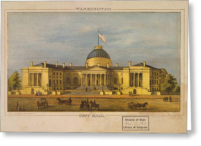 City Hall Greeting Cards - City Hall - Washington Greeting Card by Celestial Images