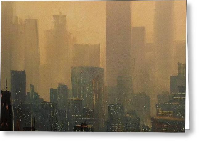 City Haze Greeting Card by Tom Shropshire