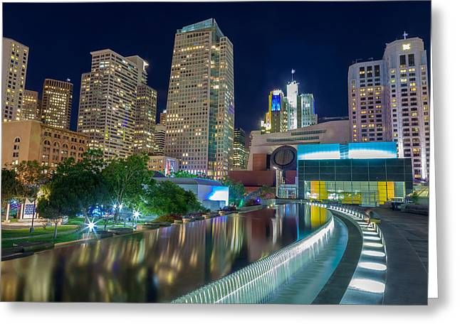 Downtown San Francisco Greeting Cards - City Heart Greeting Card by Jonathan Nguyen