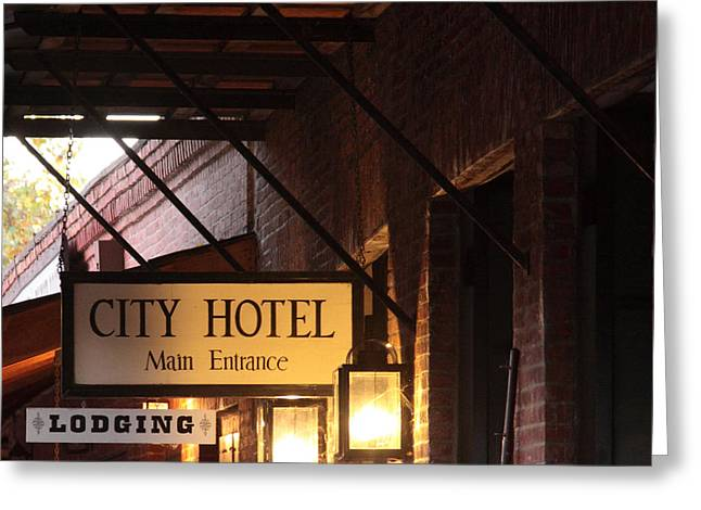 City Hotel Columbia Ca Greeting Card by Troy Montemayor
