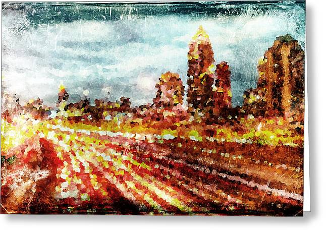 City Lights Digital Art Greeting Cards - City Lights Greeting Card by Andrea Barbieri