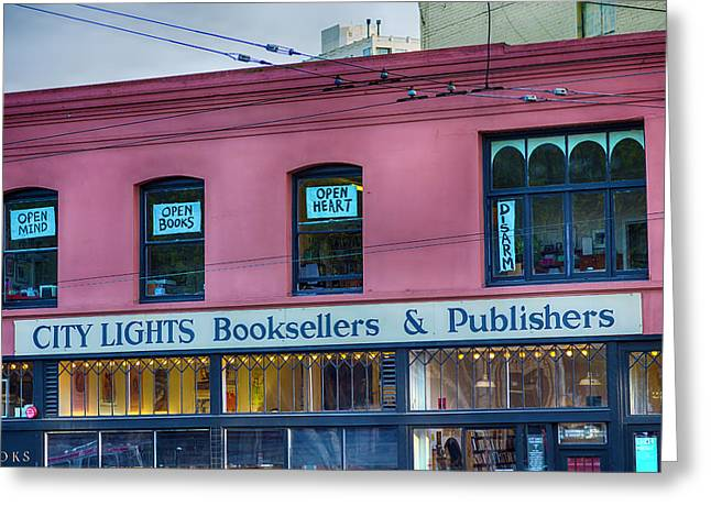 City Lights Booksellers Greeting Card by Garry Gay