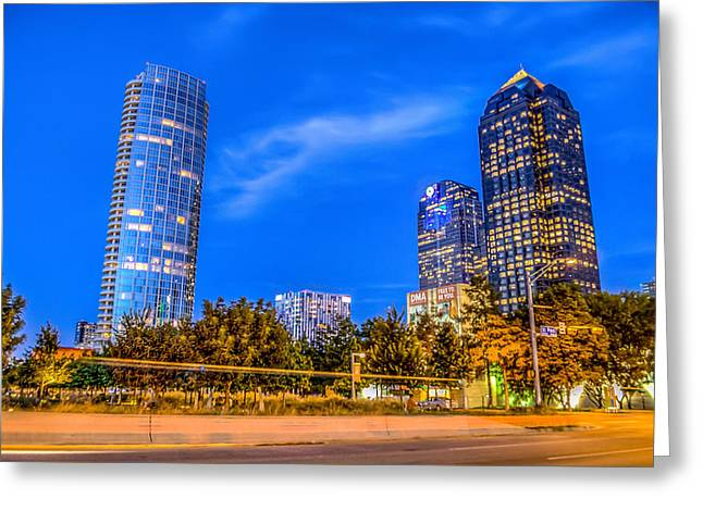 Dallas Photographs Greeting Cards - City lights Greeting Card by Dado Molina