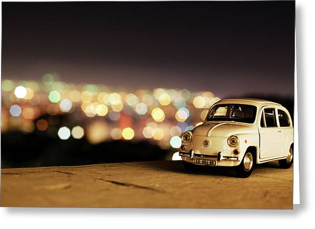 Mini Photographs Greeting Cards - City Lights Greeting Card by Ivan Vukelic