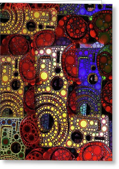 Step Ladder Greeting Cards - City Lights Greeting Card by Ron Bissett
