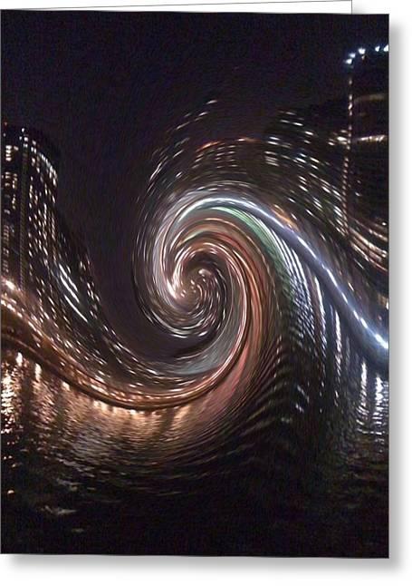 Digital Art Greeting Cards - City Lights  Greeting Card by Sherri  Of Palm Springs