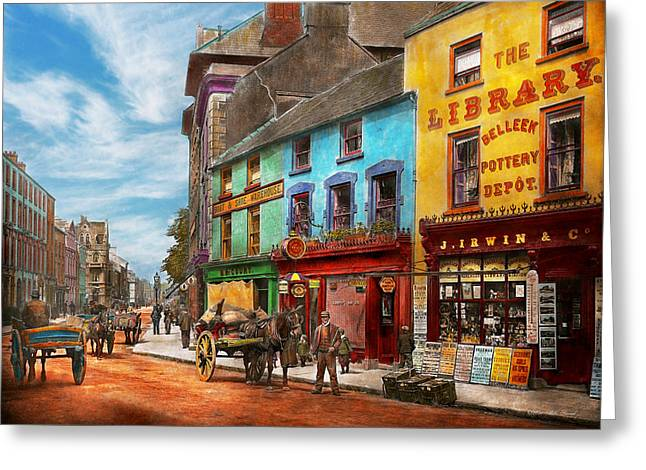 City - Newry Ireland - The Charm Of A City 1902 Greeting Card by Mike Savad