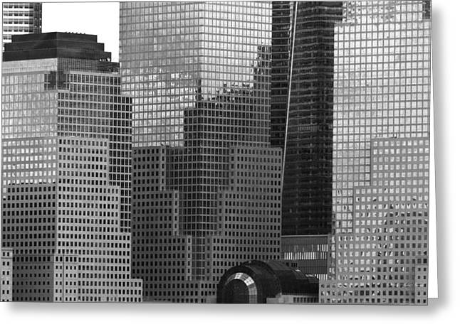 Custom Mirror Greeting Cards - City - NY - Brookfield Place Greeting Card by Mike Savad