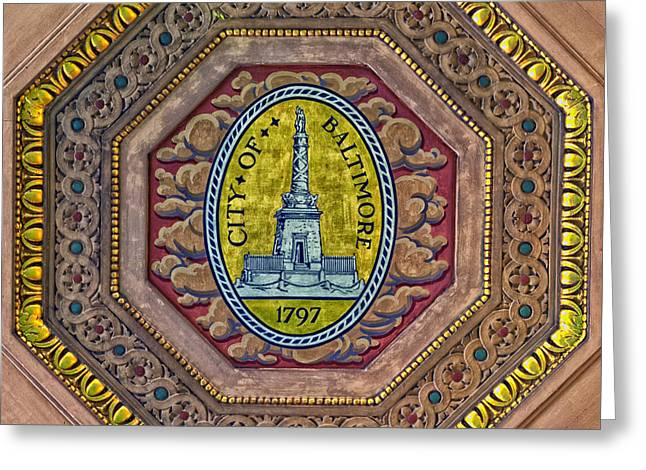 Welch Greeting Cards - City Of Baltimore Seal Greeting Card by Mountain Dreams