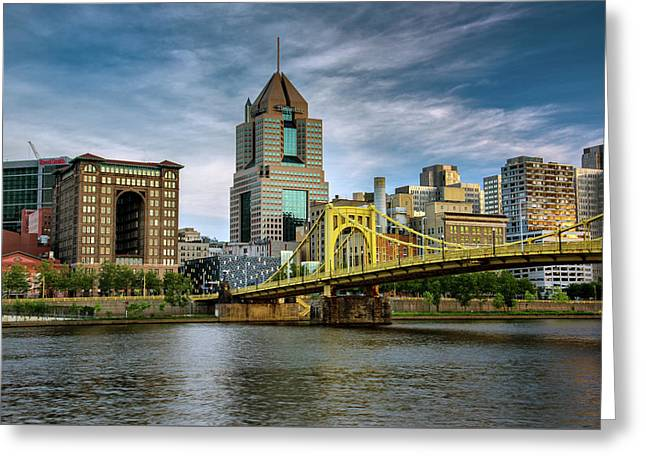 Monongahela River Greeting Cards - City of Bridges Greeting Card by Rick Berk