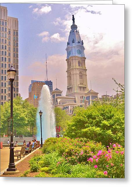 City Of Brotherly Love Greeting Card by Marla McPherson
