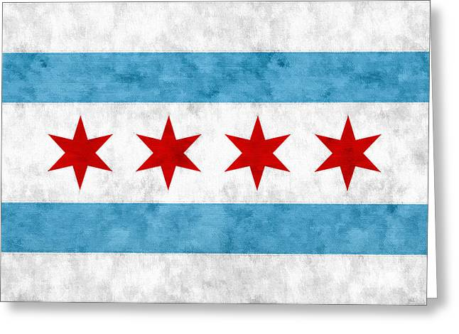 City Of Chicago Flag Greeting Card by Christopher Arndt