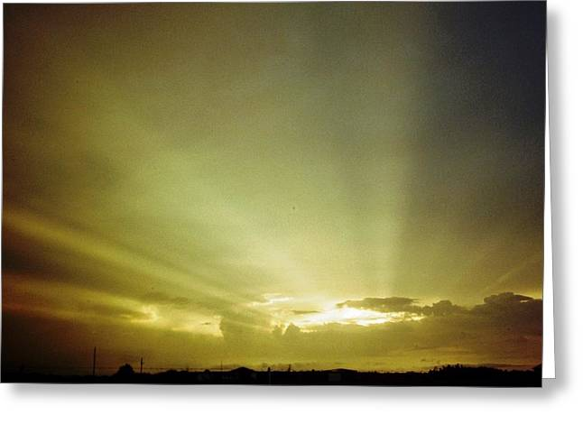 Polk County Florida Greeting Cards - City of Gold in the Sky Greeting Card by Belinda Lee