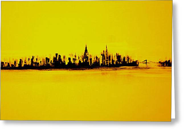 New Greeting Cards - City Of Gold Greeting Card by Jack Diamond