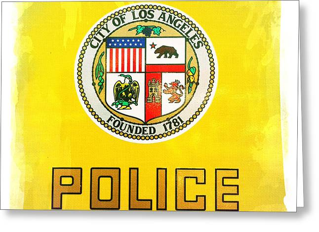 Police Officer Greeting Cards - City of Los Angeles - Police Greeting Card by Nina Prommer