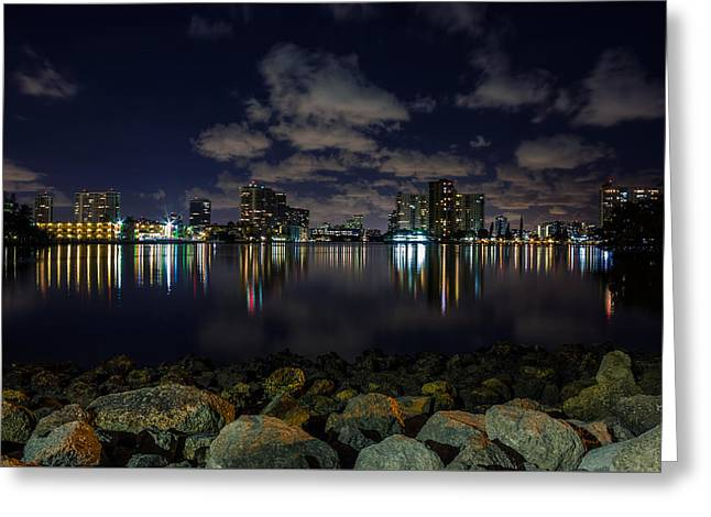 Urban Images Greeting Cards - City of Sunny Isles Beach Florida Greeting Card by Rob Sellers