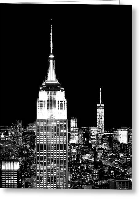 New York City Greeting Cards - City Of The Night Greeting Card by Az Jackson