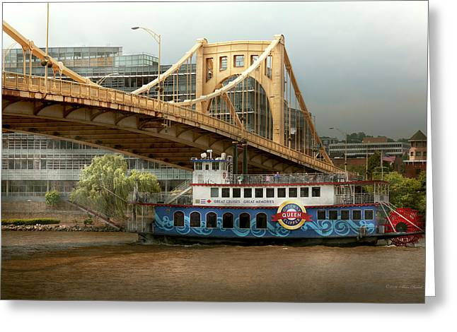 City - Pittsburg Pa - Great Memories Greeting Card by Mike Savad