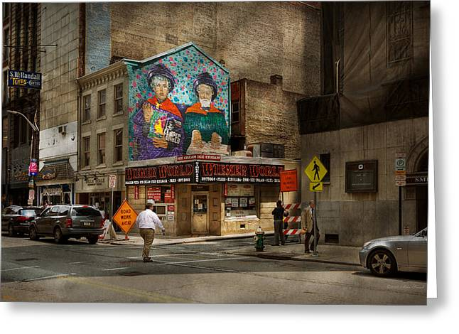 City - Pittsburg, Pa - Wiener World Greeting Card by Mike Savad