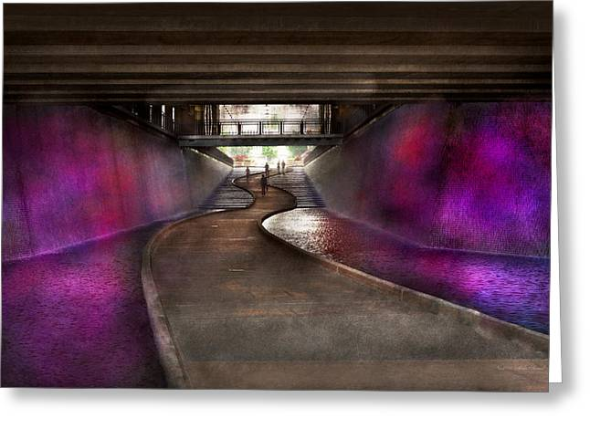 Pittsburgh Artwork. Greeting Cards - City - Pittsburgh PA - Welcome to the future Greeting Card by Mike Savad