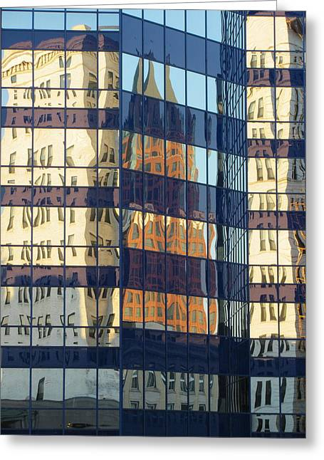 City Reflections 1 Greeting Card by Anita Burgermeister