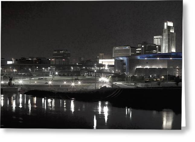 Missouri River Greeting Cards - City Reflections Greeting Card by Tim Perry