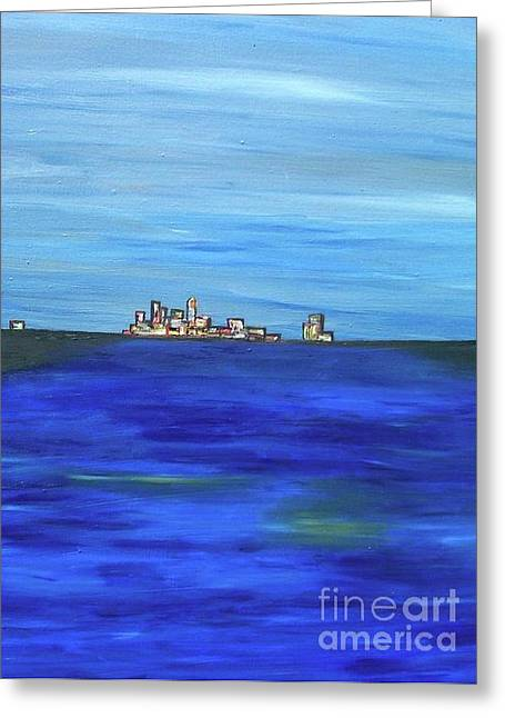 City View Greeting Card by Jazmine  Gallery