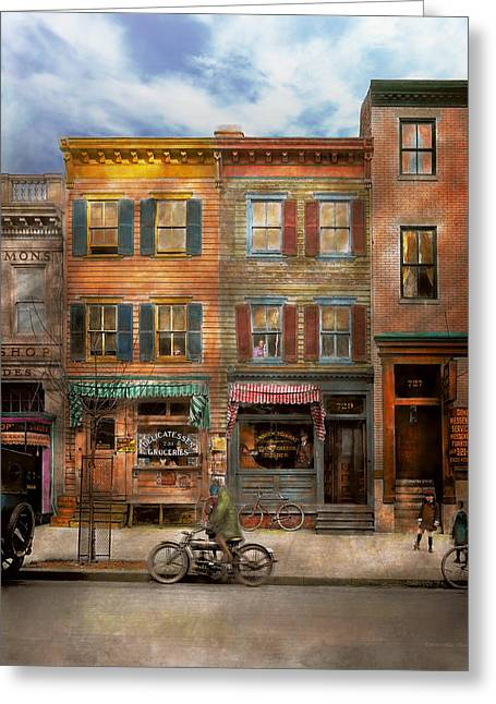 Colorization Greeting Cards - City - Washington DC - Ghosts of the past 1925 Greeting Card by Mike Savad