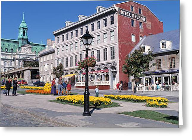 Cityscape Montreal Quebec Canada Greeting Card by Panoramic Images