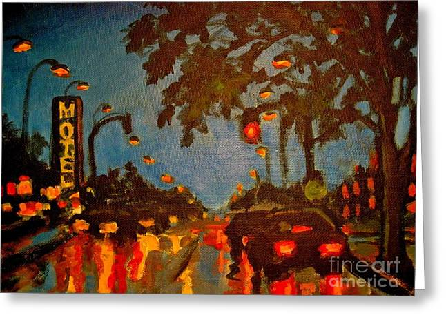 Cityscape Painting Greeting Card by John Malone