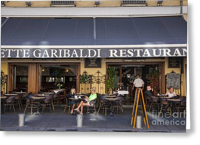 Dine Greeting Cards - Civette Garibaldi restaurant in Nice Greeting Card by Elena Elisseeva