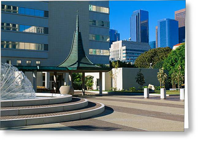 California Art Greeting Cards - Civic Center East, Los Angeles Greeting Card by Panoramic Images