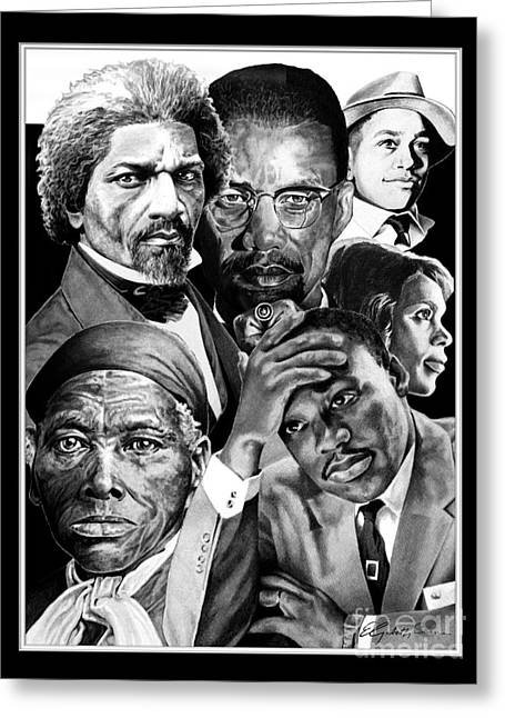 Douglass Greeting Cards - Civil Rights Collage Greeting Card by Elizabeth Scism