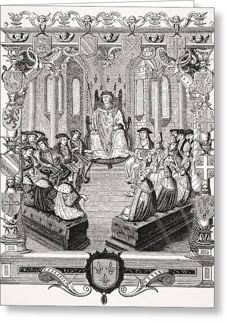 Legal Proceedings Greeting Cards - Civil Trial Of Charles De Bourbon Greeting Card by Ken Welsh
