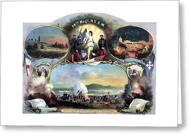 Civil War 14th Regiment Memorial Greeting Card by War Is Hell Store