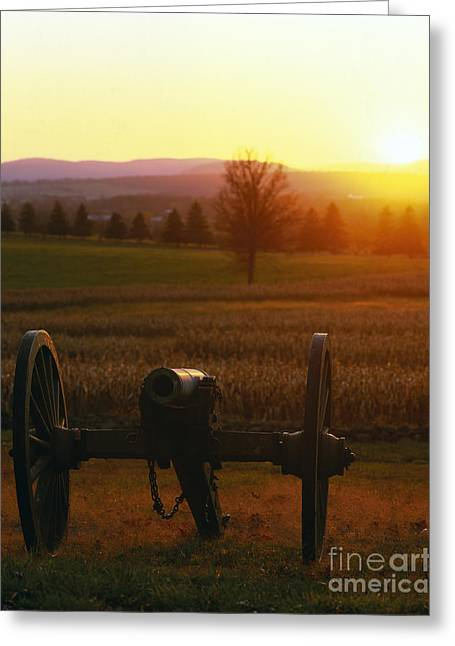 """battle Field"" Greeting Cards - Civil War Canon Greeting Card by Rafael Macia"