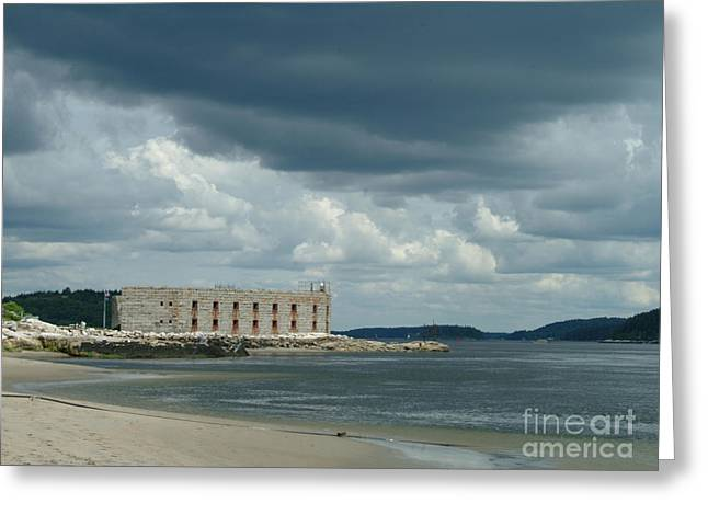 Civil Greeting Cards - Civil War Fortress In Maine Greeting Card by Georgia Sheron