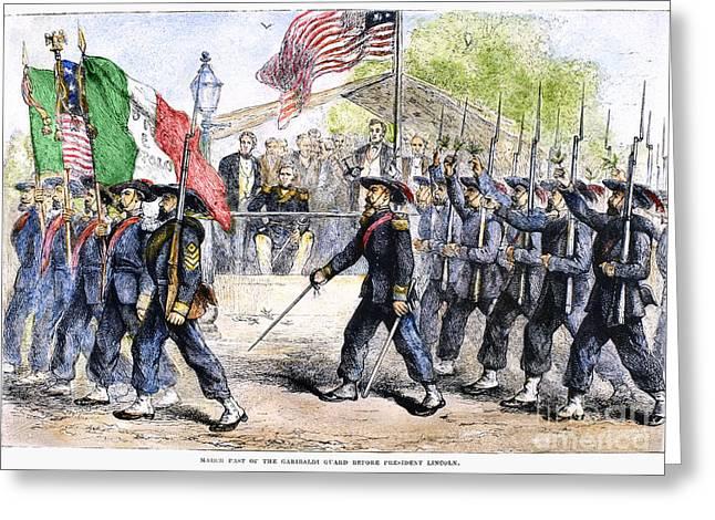 Bayonet Photographs Greeting Cards - Civil War: Garibaldi Guard Greeting Card by Granger